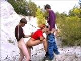 Cuatro chicos amateurs follando duro - Orgias