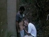 Una buena sesión de sexo en la calle  - Trios